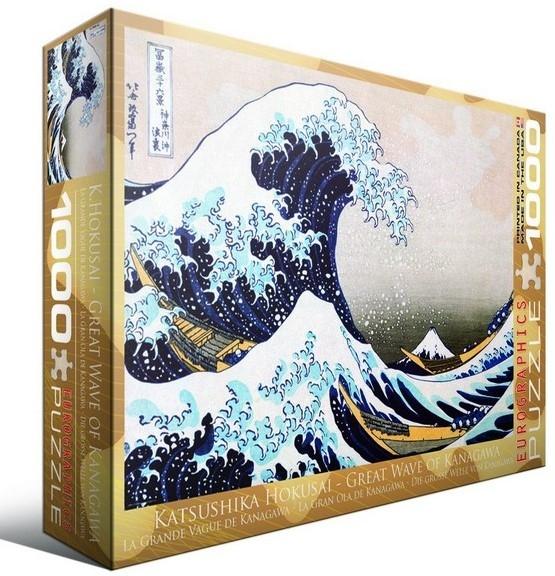 Eur-6000-1545,Puzzel great wave of kanagawa - hokusai 1000 stuks