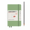 <b>Lt361863</b>,Leuchtturm agenda 2021 pocket 9x15 9x15 l. ag. r. not. sage licht groen