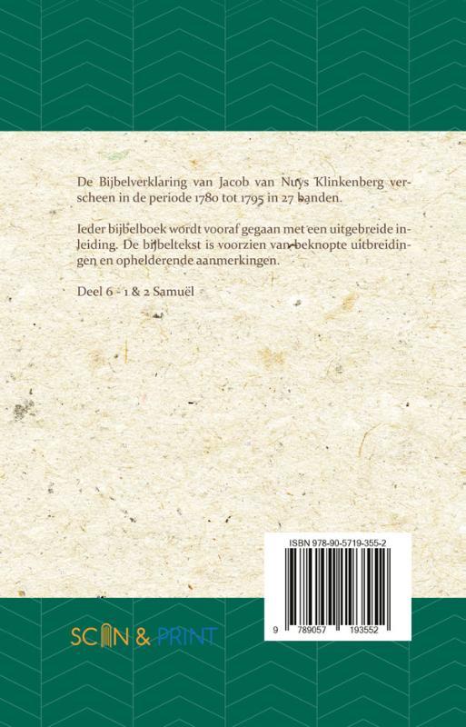 J. van Nuys Klinkenberg,1 & 2 Samuël