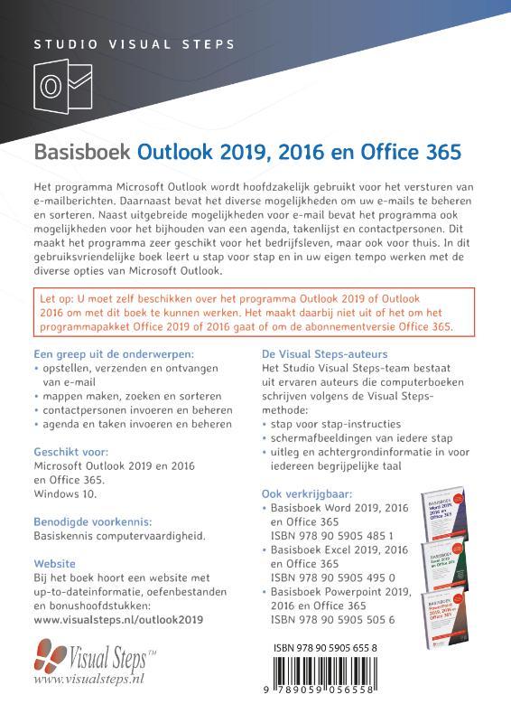 Studio Visual Steps,Basisboek Outlook 2019, 2016 en Office 365