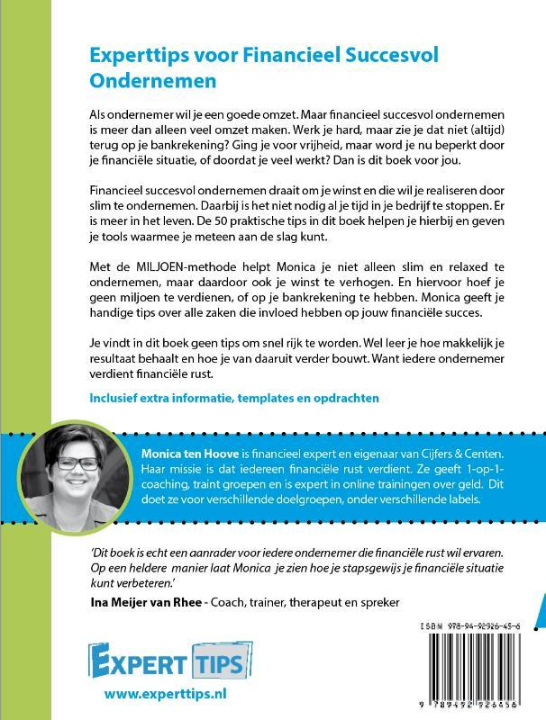 Monica ten Hoove,Experttips voor Financieel Succesvol Ondernemen