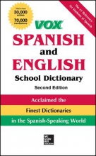 Vox Vox Spanish and English School Dictionary