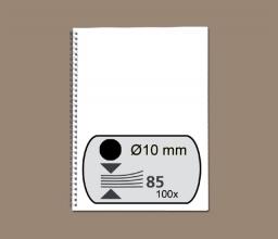 , Draadrug Fellowes 10mm 34-rings A4 zwart 100stuks