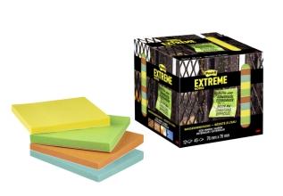 , Memoblok Post-it Extreme 76x76mm 4 kleuren assorti