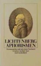 Lichtenberg, Georg Christoph Aphorismen