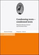Condensing texts - condensed texts