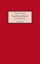 Kattner, Heinz Lautloses Rufen