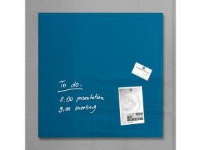, glasmagneetbord Sigel Artverum 480x480x15mm petrolblauw