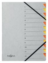 , Sorteermap Pagna Easy 12 tabs A4 grijs