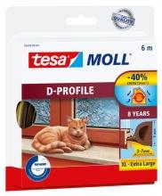 , Tochtstrip Tesa Moll 05393 D profiel 9mmx6m bruin