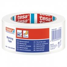 , Markeringstape Tesa 60760 PVC 50mmx33m wit