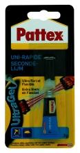 , Secondelijm Pattex ultra gel tube 3gram op blister