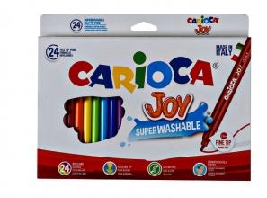 , Viltstiften Carioca Joy set à 24 kleuren