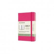 , Moleskine 18 MND Agenda - 2020/21 - Wekelijks - Pocket (9x14 cm) - Bougainvillea Pink - Harde Kaft
