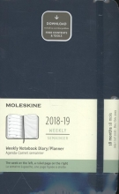 Moleskine Wochen Notizkalender, 18 Monate, 2018/2019, Large/A5, Soft Cover, Saphir