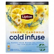 , Cold infuse Lipton lemon chamomile