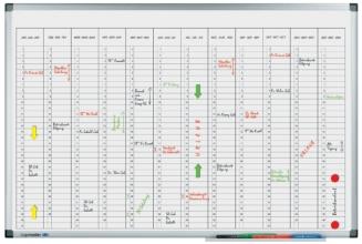 , Planbord Legamaster premium jaarplanner verticaal 60x90cm