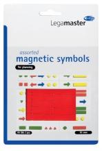 , Magneet Legamaster symbolen 10mm rood assorti