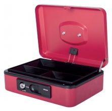 , Geldkist Pavo Deluxe 250x180x90mm rood