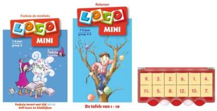, Loco Mini tijd en tafels leren (doos + 2 boekjes)