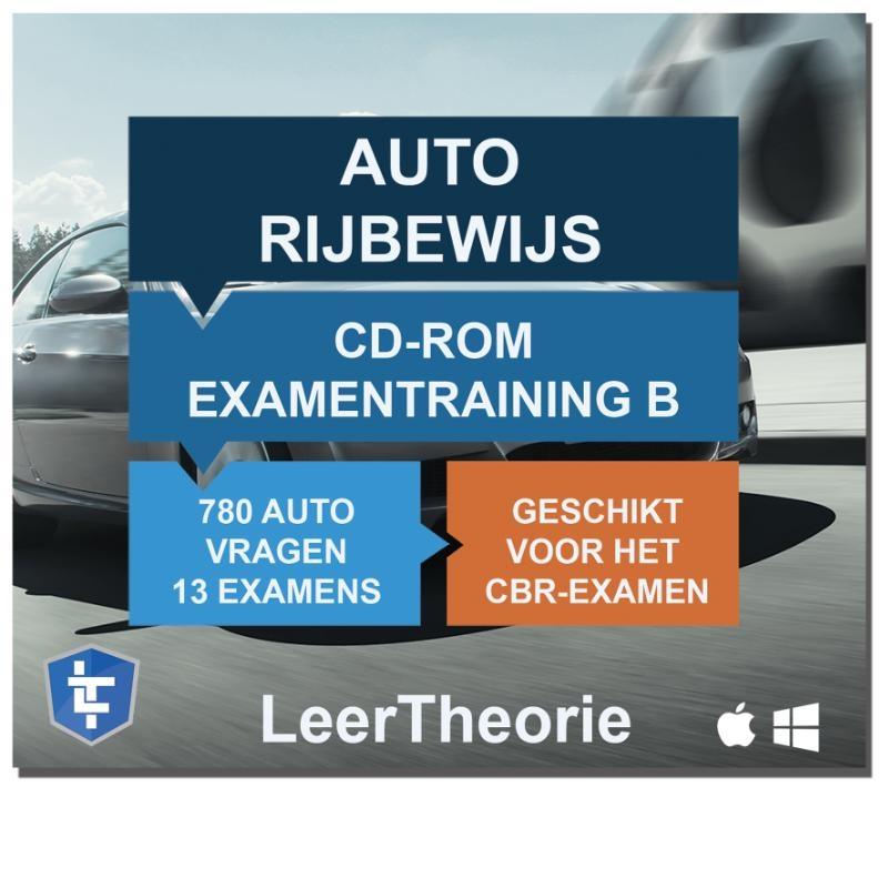 ,Auto Rijbewijs B - CD-ROM 2020 Auto Examentraining B - 845 oefenvragen - 13 Theorie Examens - Ontworpen voor het CBR theorie-examen