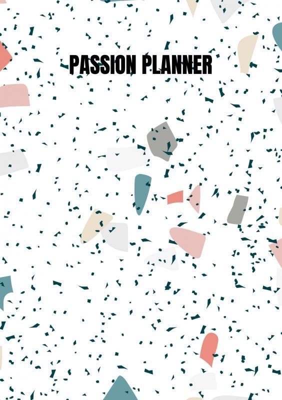 Allets  Comfort,Passion Planner-12 maanden- wekelijks - A5- Zachte kaft-Marmer blauw- Allets Comfort