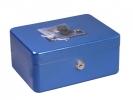 ,geldkistje Alco 200x150x95mm staal blauw
