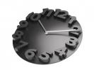 ,wandklok TIQ diameter 340 mm 3D kunststof zwart