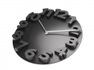 <b>wandklok TIQ diameter 340 mm 3D kunststof zwart</b>,