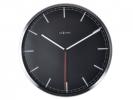 ,Wandklok NeXtime dia. 35 x 4.2 cm, aluminium, zwart,        `Company`