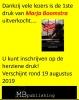 Marja  Boomstra,Als het verleden toekomst wordt
