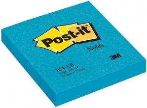 , Memoblok 3M Post-it 654 Super Sticky 76x76mm blauw