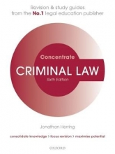 Herring, Jonathan Criminal Law Concentrate
