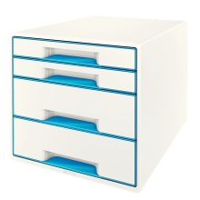 , Ladenbox Leitz WOW 4 laden wit/blauw