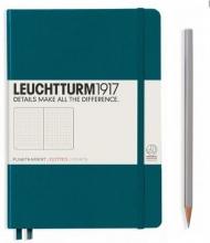 , Leuchtturm notitieboek softcover 19x12.5 cm bullets/dots/puntjes pacific