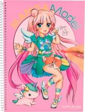 006581 a , Topmodel mangamodel kleurboek