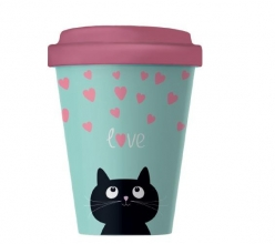 Bcp210 Bamboocup coffee kitty love