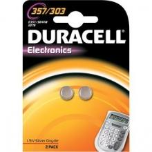 , Batterij Duracell knoopcel 2x357/303 zilver oxide Ø11,6mm 2 stuks