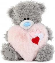 Vp701024 , Me to you knuffel - beer - hart met hartjes - 16cm