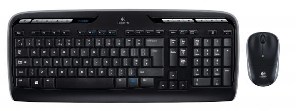 , Toetsenbord Logitech MK330 Qwerty +muis zwart