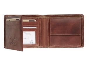 Ma-480265-33 , Maverick dalian ii rfid-blocking billfold portemonnee leer donkerbruin