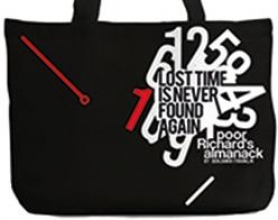 Poor Richard`s Almanack Tote Bag