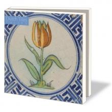 Wmc735 , Notecard pak 10 stuks 15 x15 cm hollandse tegels bloemen