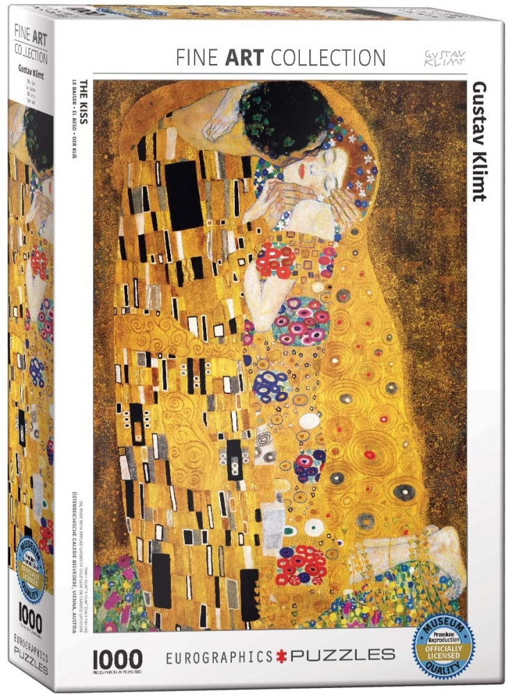 Eur-6000-4365,Puzzel eurographics the kiss - gustav klimt 1000 stukjes 48x68cm
