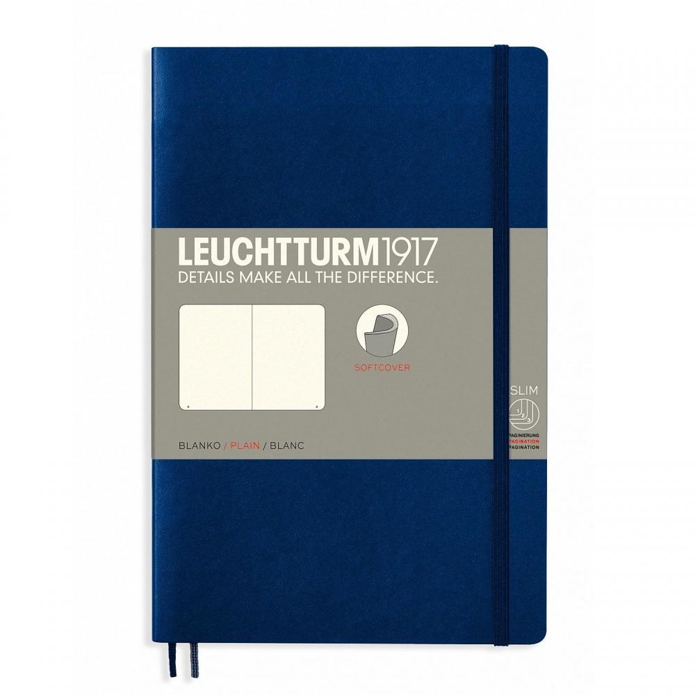 Lt358319,Leuchtturm notitieboek softcover 19x12.5 cm blanco