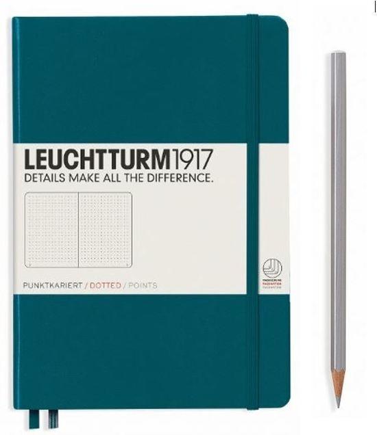 ,Leuchtturm notitieboek softcover 19x12.5 cm bullets/dots/puntjes pacific