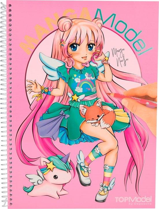 006581 a,Topmodel mangamodel kleurboek