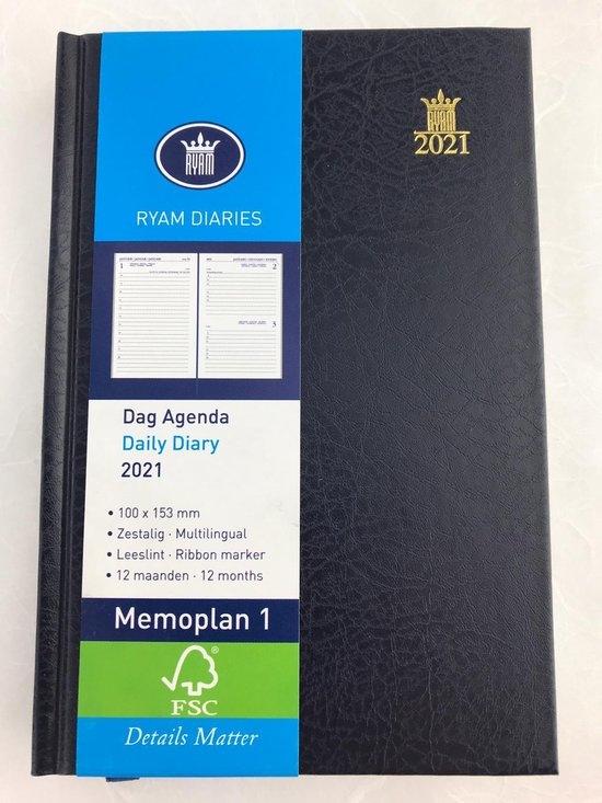 ,Ryam zakagenda 2021  memoplan 1dpp mundior blauw