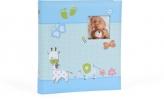 ,<b>Babyalbum baby moments blauw voor 180 foto`s</b>