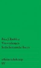 Raddatz, Fritz J. Verwerfungen